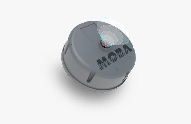 MOBA FLS sensor to detect the fill level in real time